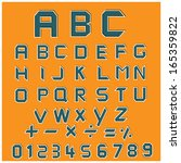 retro font  series 1 for idea... | Shutterstock .eps vector #165359822