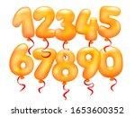 3d realistic letter balloons... | Shutterstock .eps vector #1653600352