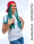 beautiful european girl with...   Shutterstock . vector #1653602752