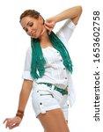 beautiful european girl with...   Shutterstock . vector #1653602758