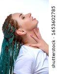 beautiful european girl with...   Shutterstock . vector #1653602785