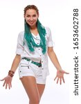 beautiful european girl with...   Shutterstock . vector #1653602788