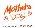 concept postcard. handwritten... | Shutterstock . vector #1653621985