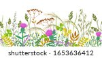 seamless horizontal border with ...   Shutterstock .eps vector #1653636412