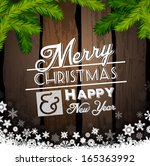 christmas greeting card. merry... | Shutterstock .eps vector #165363992