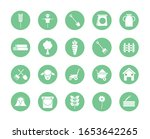 silhouette block style icon set ... | Shutterstock .eps vector #1653642265