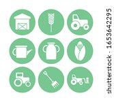silhouette block style icon set ... | Shutterstock .eps vector #1653642295