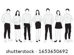vector silhouettes of  men and... | Shutterstock .eps vector #1653650692