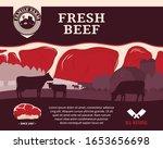 vector farm fresh beef... | Shutterstock .eps vector #1653656698