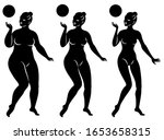 collection. silhouette of a... | Shutterstock .eps vector #1653658315