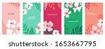 vector set of abstract... | Shutterstock .eps vector #1653667795