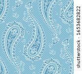 seamless pattern paisley... | Shutterstock .eps vector #1653682822