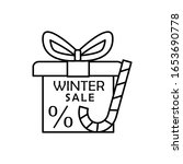 gift box candy icon. simple...