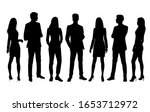 vector silhouettes of  men and... | Shutterstock .eps vector #1653712972