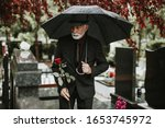 Elegant Sad Elderly Man...