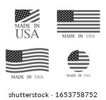 made in the usa set of banner... | Shutterstock .eps vector #1653758752