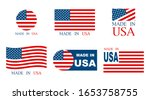 made in the usa set of banner... | Shutterstock .eps vector #1653758755