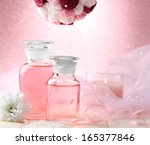 glass bottles with color... | Shutterstock . vector #165377846