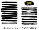 vector black paint  ink brush... | Shutterstock .eps vector #1653779095