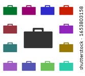 business briefcase multi color...