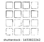 set of black square grunge... | Shutterstock .eps vector #1653822262
