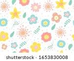 seamless pattern of  flowers... | Shutterstock .eps vector #1653830008