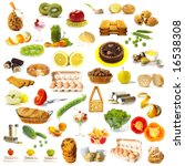 large page of food assortment... | Shutterstock . vector #16538308