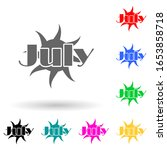 july multi color style icon....