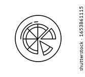 pizza  vegan icon. simple line  ...