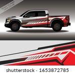 car wrap decal design vector ...   Shutterstock .eps vector #1653872785