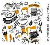 set of coffee equipment  hand... | Shutterstock .eps vector #1653874522