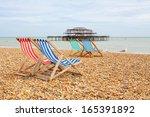 deckhairs on brighton beach...