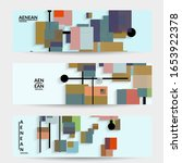 abstract retro colored mid... | Shutterstock .eps vector #1653922378