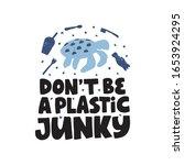 plastic pollution hand drawn... | Shutterstock .eps vector #1653924295