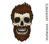 Skull. Bearded Skull. Vector...