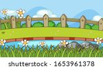 scene with river and grass... | Shutterstock .eps vector #1653961378