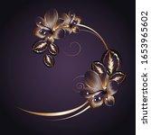 vintage luxury  floral frame... | Shutterstock .eps vector #1653965602