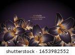 vintage luxury floral... | Shutterstock .eps vector #1653982552