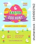 easter egg hunt poster vector... | Shutterstock .eps vector #1654001962