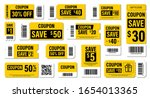 set of template coupon. gift... | Shutterstock .eps vector #1654013365