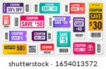 set of template coupon. gift... | Shutterstock .eps vector #1654013572