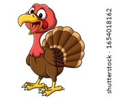 cartoon smiling turkey bird...