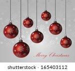 christmas background | Shutterstock .eps vector #165403112
