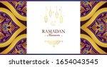 vector ramadan kareem card.... | Shutterstock .eps vector #1654043545