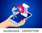 isometric online medical...   Shutterstock .eps vector #1654057558