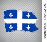 flag of quebec brush strokes....