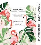 Paradise Pink Flamingo Birds...