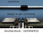 ready to get published | Shutterstock . vector #165406922
