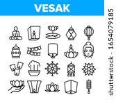 vesak day buddhism collection... | Shutterstock .eps vector #1654079185