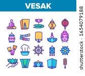 vesak day buddhism collection... | Shutterstock .eps vector #1654079188